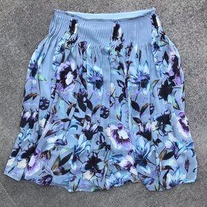 Maeve Pleated Floral Midi Skirt